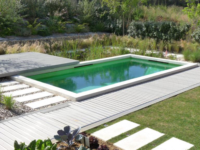 jardin contemporain piscine